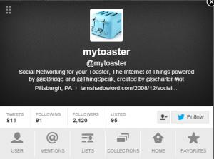 Toaster connecté
